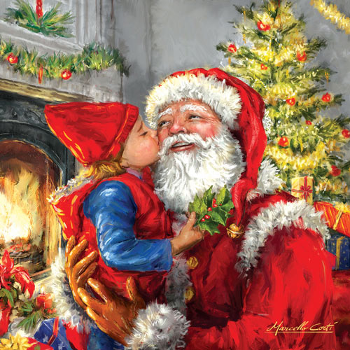 Kissing Santa 500 Piece Jigsaw Puzzle