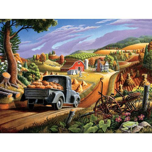 Pumpkins 550 Piece Jigsaw Puzzle
