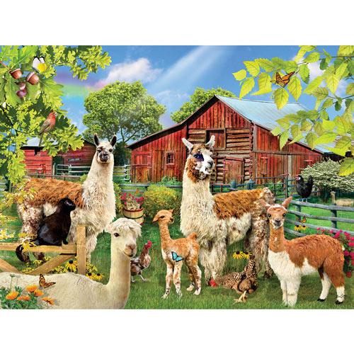Six Llamas 300 Large Piece Jigsaw Puzzle