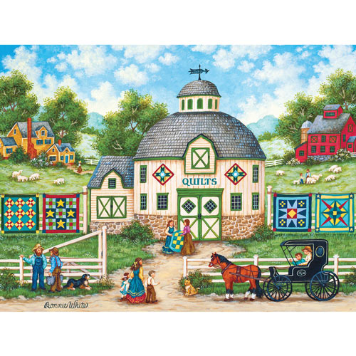 The Quilt Barn 550 Piece Jigsaw Puzzle