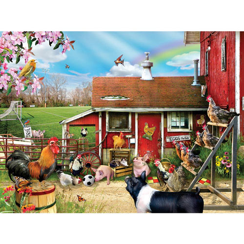 Barnyard Soccer 300 Large Piece Jigsaw Puzzle