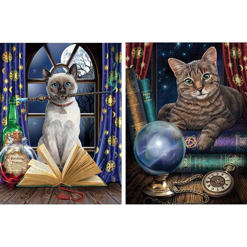 Set of 2: Magical Cat 550 Piece Jigsaw Puzzles