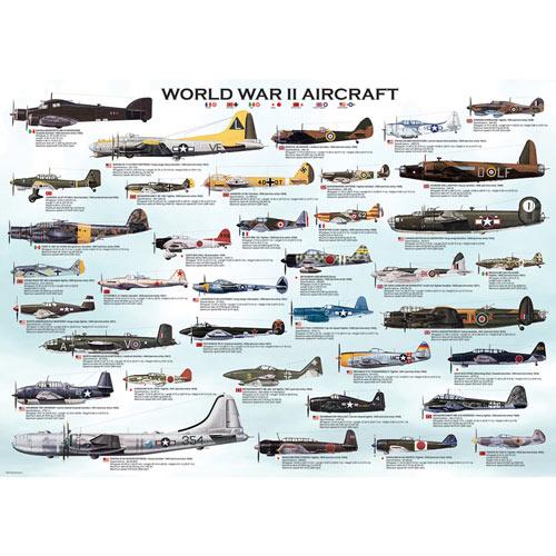WWII Aircraft 1000 Piece Jigsaw Puzzle