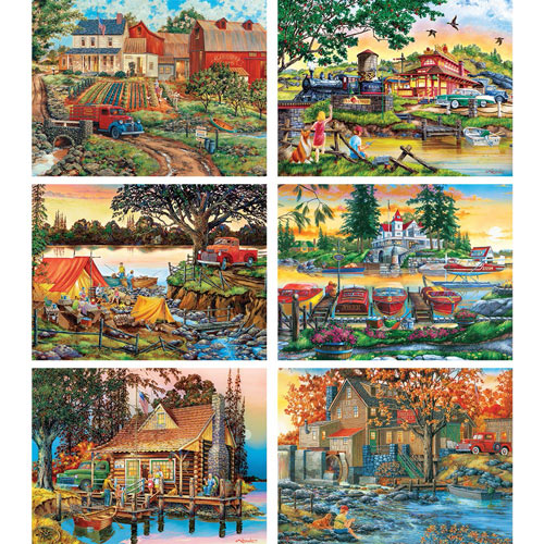 Set of 6: William Kreutz 1000 Piece Jigsaw Puzzles