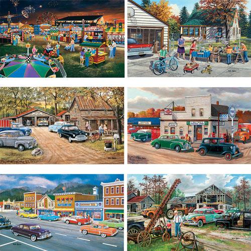Set of 6: Ken Zylla 550 Piece Jigsaw Puzzles