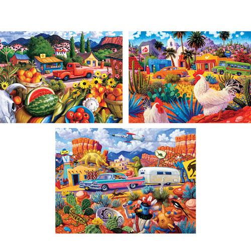 Set of 3: Steven Morath 550 Piece Jigsaw Puzzles