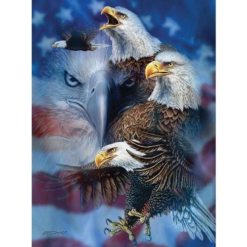 Patriotic Eagles 1000 Piece Jigsaw Puzzle