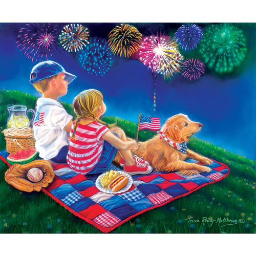 Fireworks Finale 300 Large Piece Jigsaw Puzzle