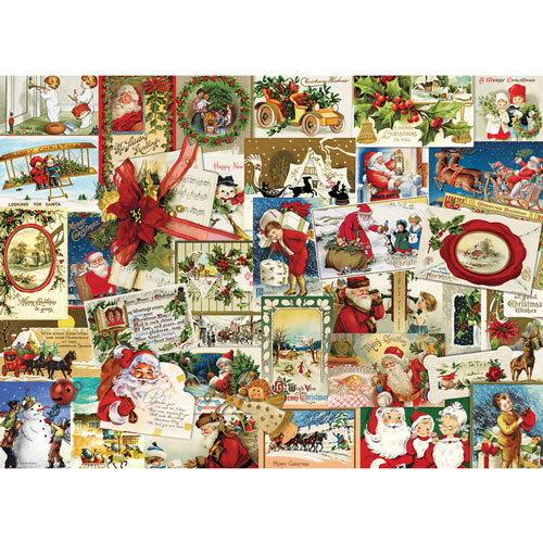 Vintage Christmas Cards 1000 Piece Jigsaw Puzzle
