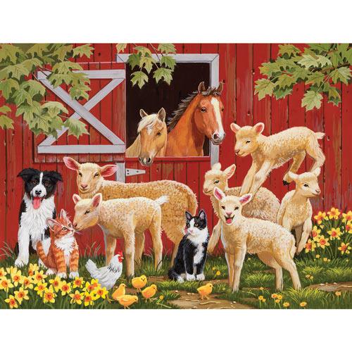 Lamb Parade 300 Large Piece Jigsaw Puzzle