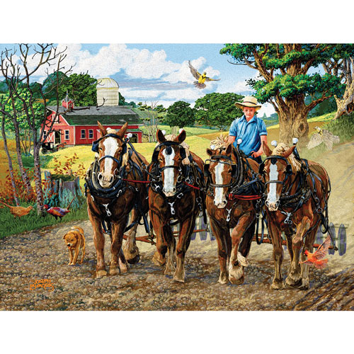 Amish Farm 300 Large Piece Jigsaw Puzzle