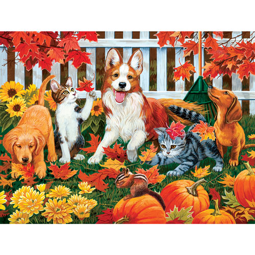 The Leaf Collectors 300 Large Piece Jigsaw Puzzle