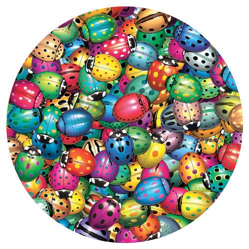 Beetle Mania 500 Piece Round Jigsaw Puzzle