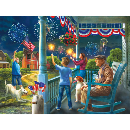 Fourth of July at Grandpas 300 Large Piece Jigsaw Puzzle