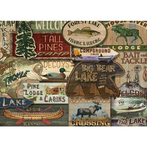 Lodge Signs 1000 Piece Jigsaw Puzzle