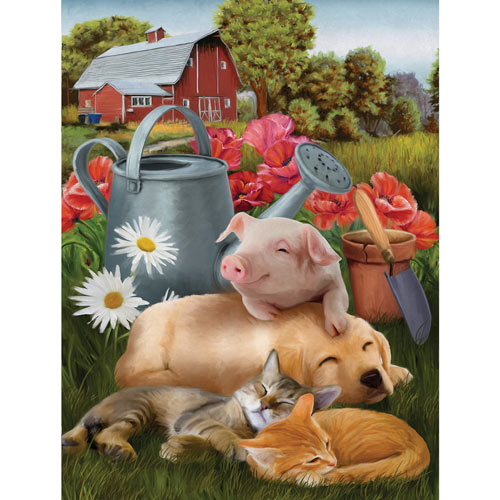 Lazy in the Sun 300 Large Piece Jigsaw Puzzle