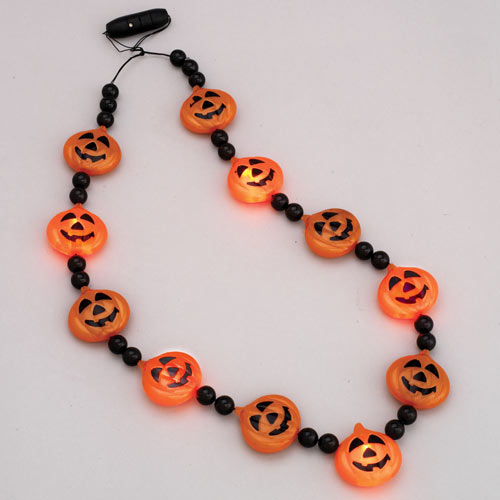 LED Pumpkin Necklace