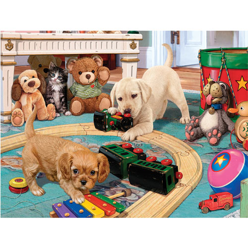 Puppies Playtime 300 Large Piece Jigsaw Puzzle