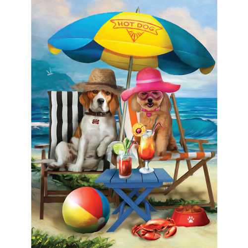 Beach Dogs 300 Large Piece Jigsaw Puzzle