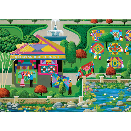 Quilting Bee 300 Large Piece Jigsaw Puzzle