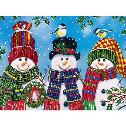 Snowy Afternoon Friends 300 Large Piece Jigsaw Puzzle