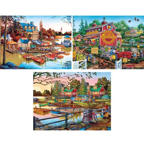 Set of 3: William Kreutz 550 Piece Jigsaw Puzzles
