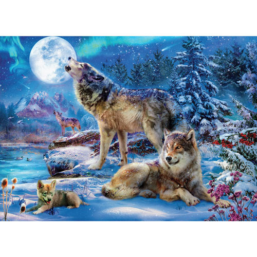 Winter Wolf Family 1000 Piece Jigsaw Puzzle
