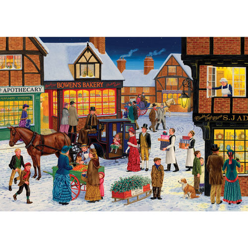 Winter Town Shops 1000 Piece Jigsaw Puzzle