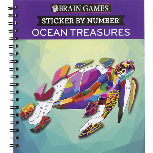 Sticker by Number Book - Ocean Treasures
