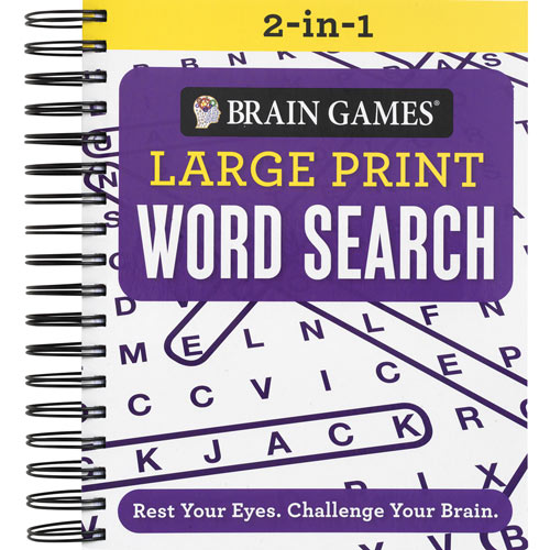 Large Print 2-in-1 Word Search