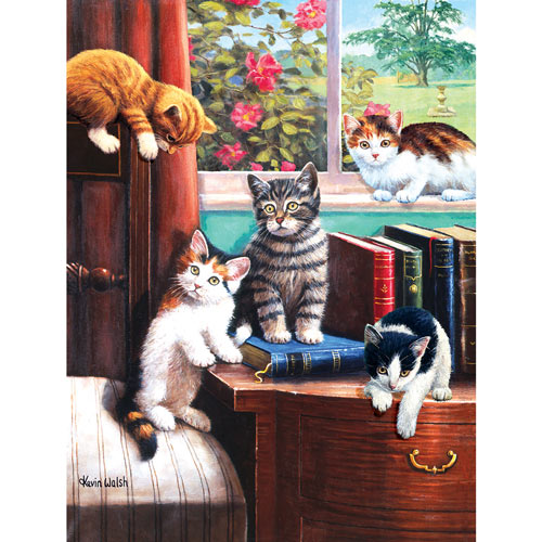 Playtime in the Study 500 Piece Jigsaw Puzzle