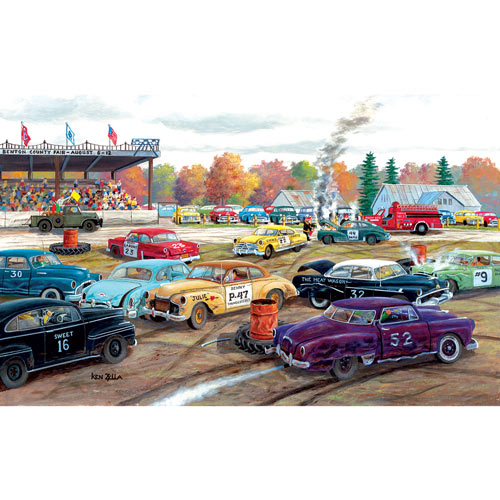 Demolition Derby 550 Piece Jigsaw Puzzle