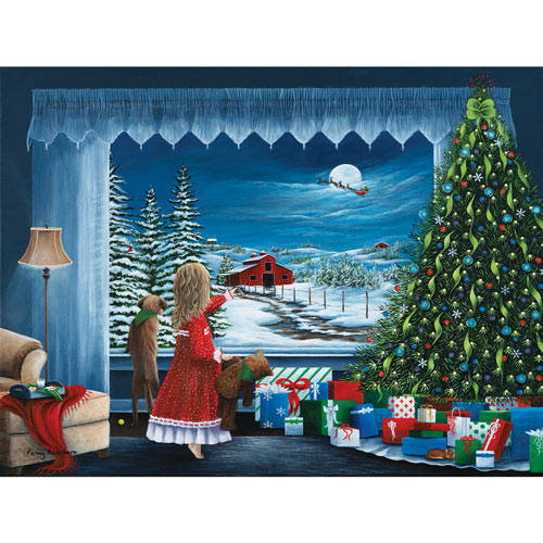 Santa's Coming 300 Large Piece Jigsaw Puzzle