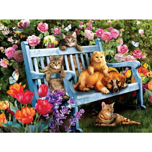 Hanging Out in the Garden 300 Large Piece Jigsaw Puzzle