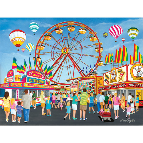 On the Midway 300 Large Piece Jigsaw Puzzle