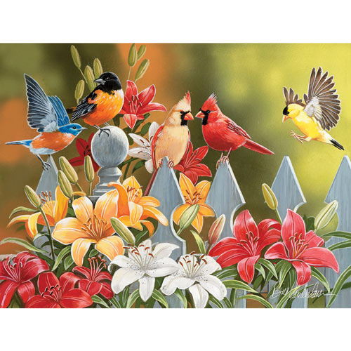Birds on a Fence 300 Large Piece Jigsaw Puzzle