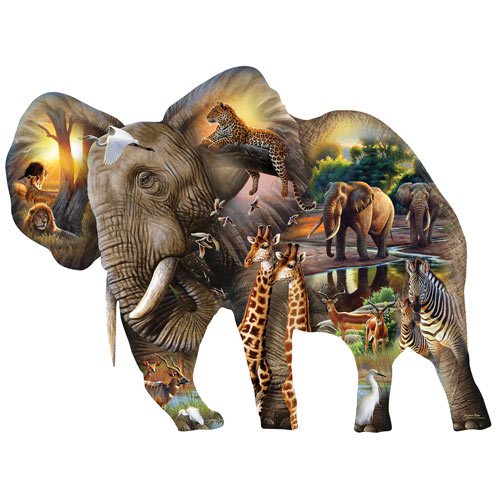 Elephant Habitat 1000 Piece Jigsaw Puzzle