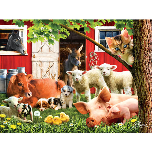 Lazy Afternoon on the Farm 300 Large Piece Jigsaw Puzzle