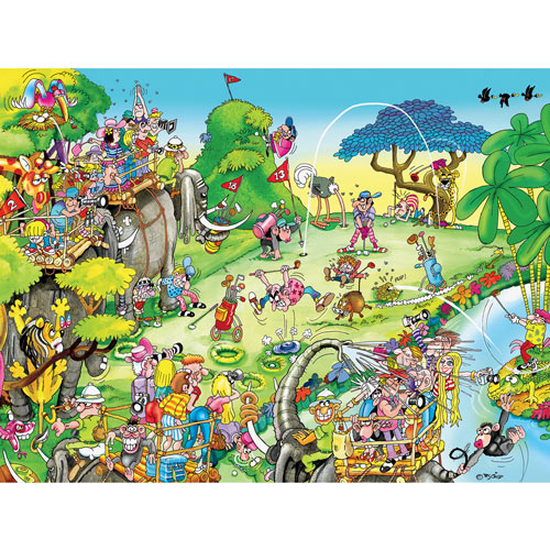 Golf Safari 300 Large Piece Jigsaw Puzzle