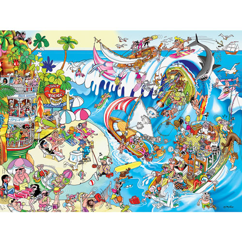 The Wave 300 Large Piece Jigsaw Puzzle