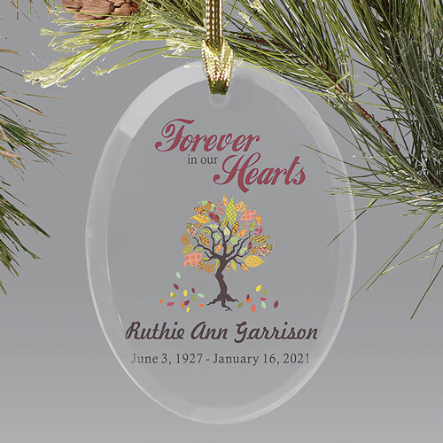 Personalized Forever In Our Hearts Holiday Christmas Ornaments