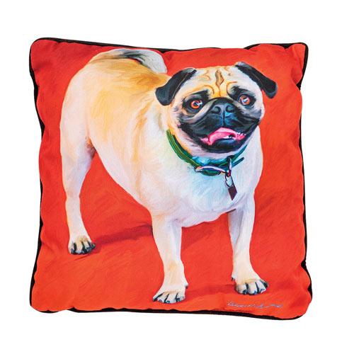 Large Dog Pillow - Pug