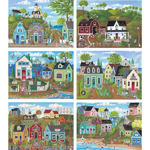Set of 6: Kim Leo 1000 Piece Jigsaw Puzzles