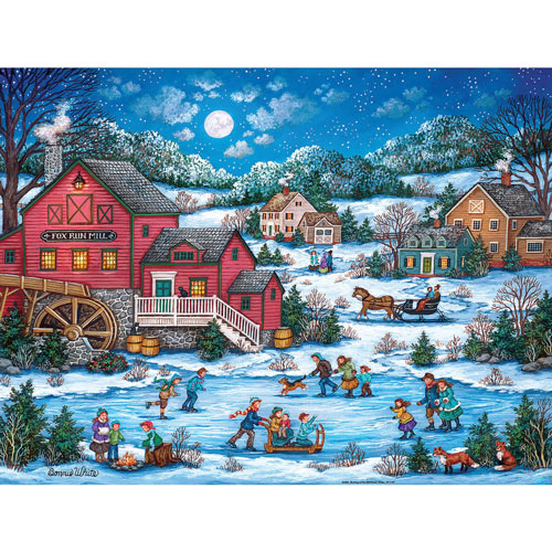 Skating at Fox Mill Pond 300 Large Piece Jigsaw Puzzle