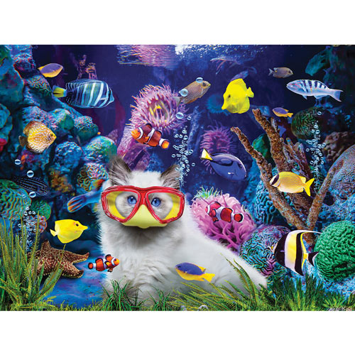 Kitten In A Fish Tank 300 Large Piece Jigsaw Puzzle
