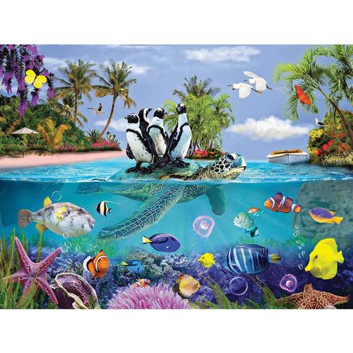 Penguins Under The Sea 300 Large Piece Jigsaw Puzzle