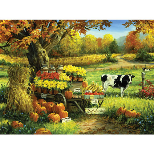 Self Serve With Cow 550 Piece Jigsaw Puzzle