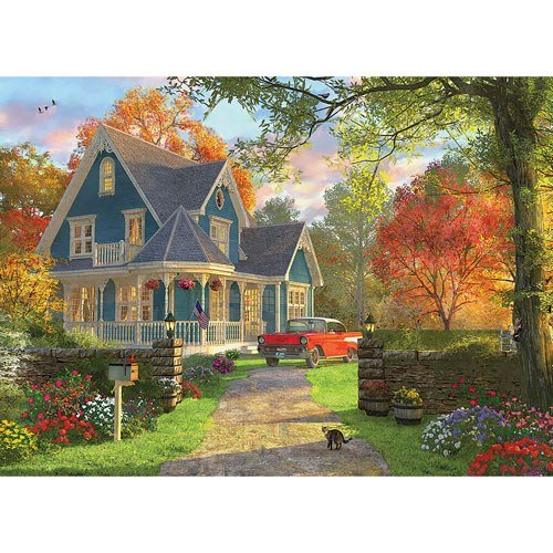 Blue Country House 1000 Piece Jigsaw Puzzle