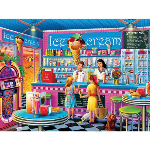 Anna's Ice Cream Parlor 750 Piece Jigsaw Puzzle
