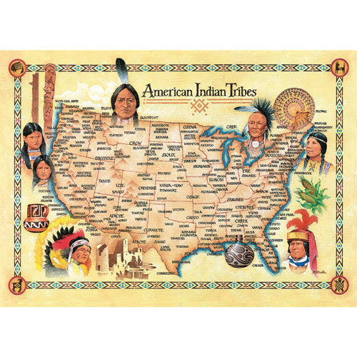 American Indian Tribes 550 Piece Jigsaw Puzzle
